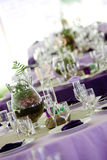 Tables in Green and Purple Royalty Free Stock Photography
