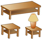 Tables and Lamp stock illustration