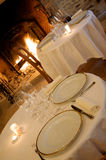 Tables in a luxury restaurant Royalty Free Stock Photo