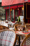 Tables off restaurants in Paris. Restaurant Royalty Free Stock Images