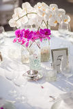 Tables for an outdoor event Stock Images