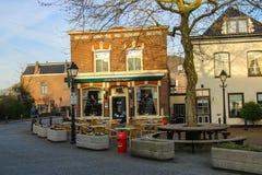 Tables outdoor restaurant Eeterij Het Kleine Brughuis in Meerkerk Royalty Free Stock Photography