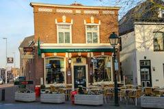 Tables outdoor restaurant Eeterij Het Kleine Brughuis Stock Image