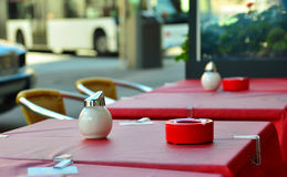Tables outside a cafe Royalty Free Stock Photography