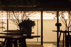 Outdoor Seating Area in The Bar stock photos