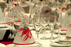 Tables prepared for a party Stock Photography