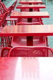 Tables of a red bar Royalty Free Stock Image