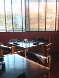 Tables in restaurant Royalty Free Stock Images