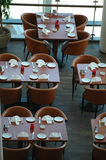 Tables in a resturant Stock Image