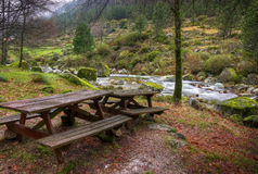 Tables by the River Royalty Free Stock Image
