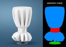 Tables rondes avec la maquette blanche de nappe images libres de droits
