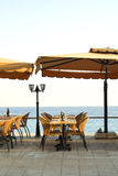 Tables on the sea Royalty Free Stock Photography