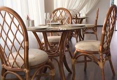 Tables servies Image libre de droits