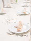 Tables set for celebration or wedding event Stock Photography