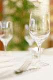Tables set for meal Royalty Free Stock Images