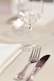 Tables set for meal Royalty Free Stock Photo
