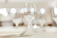 Tables set for meal Stock Images