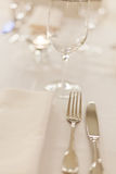Tables set for meal Stock Photos