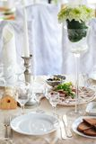 Tables set for wedding Royalty Free Stock Image