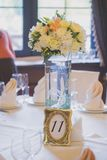 Tables set for wedding Royalty Free Stock Images