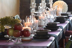 Tables set for wedding celebrations. T modena italy Stock Photo