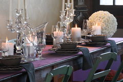 Tables set for wedding celebrations. T modena italy Stock Image