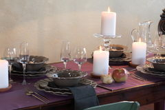 Tables set for wedding celebrations. T modena italy Royalty Free Stock Photo