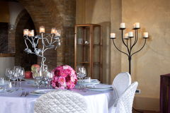 Tables set for wedding celebrations. T modena italy Stock Photography