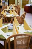 Tables at summer cafe Royalty Free Stock Photos