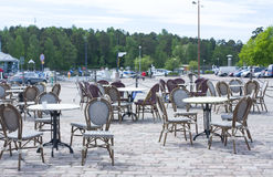 Tables of summer cafe Royalty Free Stock Photos