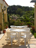 Tables in the sun Royalty Free Stock Images