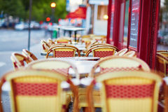 Tables of traditional French cafe in Paris Royalty Free Stock Photo