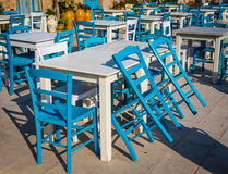 Tables in a traditional Italian Restaurant in Sicily Stock Photography