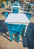 Tables in a traditional Italian Restaurant in Sicily Royalty Free Stock Photos