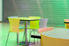Tables vides Photo stock