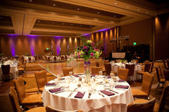 Tables at wedding reception. Laid tables at luxurious wedding reception Stock Image
