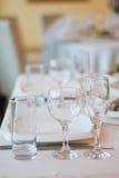 Tableset della sposa dei piatti e dei piatti fotografia stock libera da diritti
