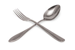 Tablespoon and fork Royalty Free Stock Photos