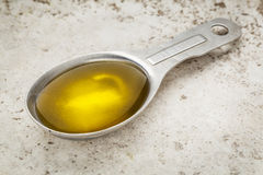 Tablespoon of olive oil Royalty Free Stock Photo
