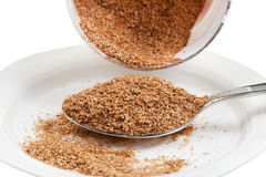 Tablespoon of wheat bran Royalty Free Stock Photo