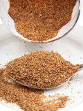 Tablespoon of wheat bran Stock Image