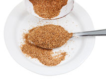 Tablespoon of wheat bran Stock Images