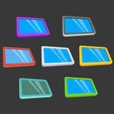 Tablet компьютеры ПК с пустым экраном на черноте бесплатная иллюстрация