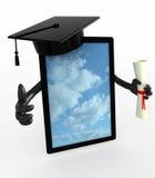 Tablet ПК с оружиями, крышкой градации и дипломом Стоковые Фото