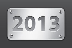 Tablet for 2013 year. Metallic gray tablet for 2013 year. Vector illustration Royalty Free Stock Photos