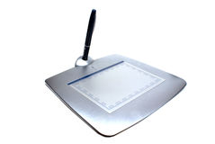 Tablet. Graphic tablet pen isolated white Stock Photo