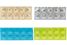 Tablet in aluminum strip pack pattern Stock Image