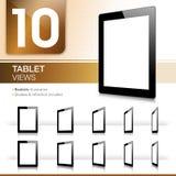 10 Tablet-Ansichten - realistisch Lizenzfreie Stockbilder