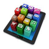 Tablet App icons - isolated Royalty Free Stock Photo