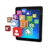 Tablet App icons - isolated Royalty Free Stock Images